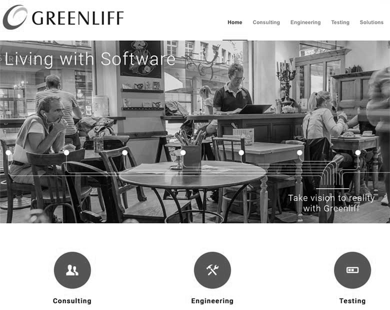 Screenshot der neuen Website von Greenliff